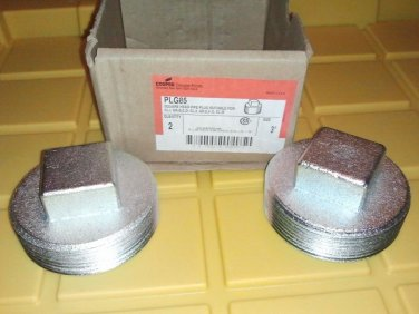"Crouse Hinds PLG85 3"" Square Head Threaded Pipe Plugs, Certified Explosionproof"