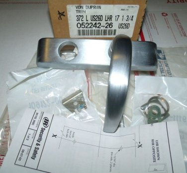 Von Duprin Trim 372-L-US26D-LHR-17 626 Satin Chrome Stainless Steel 372L 33 35