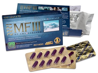 MFIII Placenta Extract (PE, 1740mg x 30 caps) - 1 Box