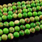 8mm Green Imperial Jasper Round Gemstone Loose Beads