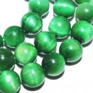 8mm green tiger eye round gemstones loose beads