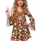 2 PC Starflower Hippie Costume Size Large