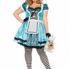 Leg Avenue 2 PC looking Glass Alice Costume Size 3X/4X