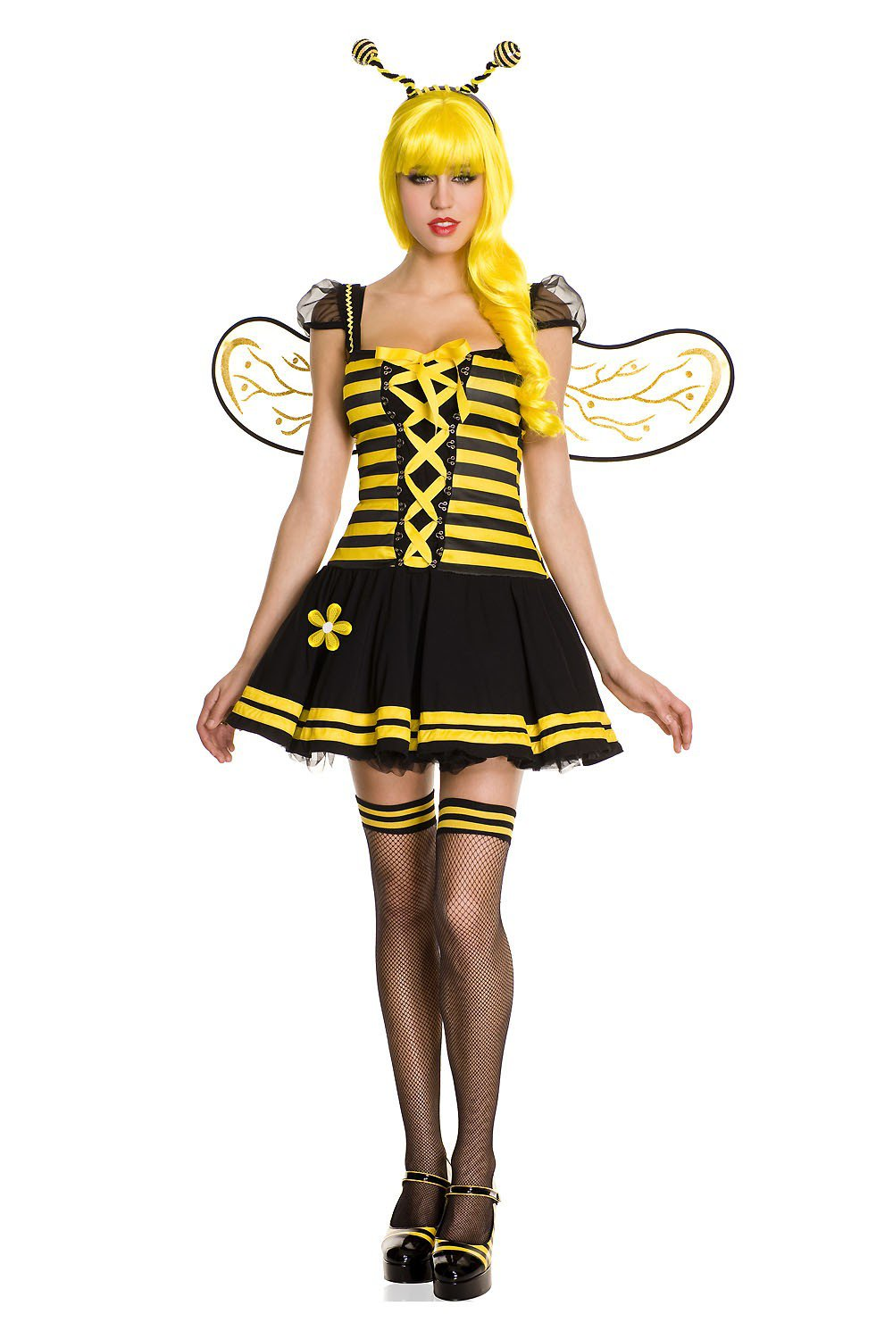 Music Legs Sexy Honey Bee Size XS