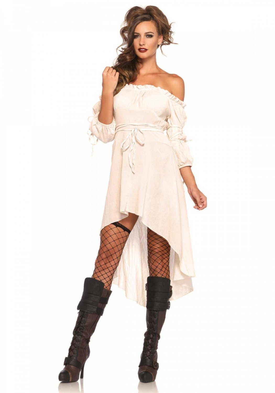 Leg Avenue Gauze High Low Peasant Dress SM