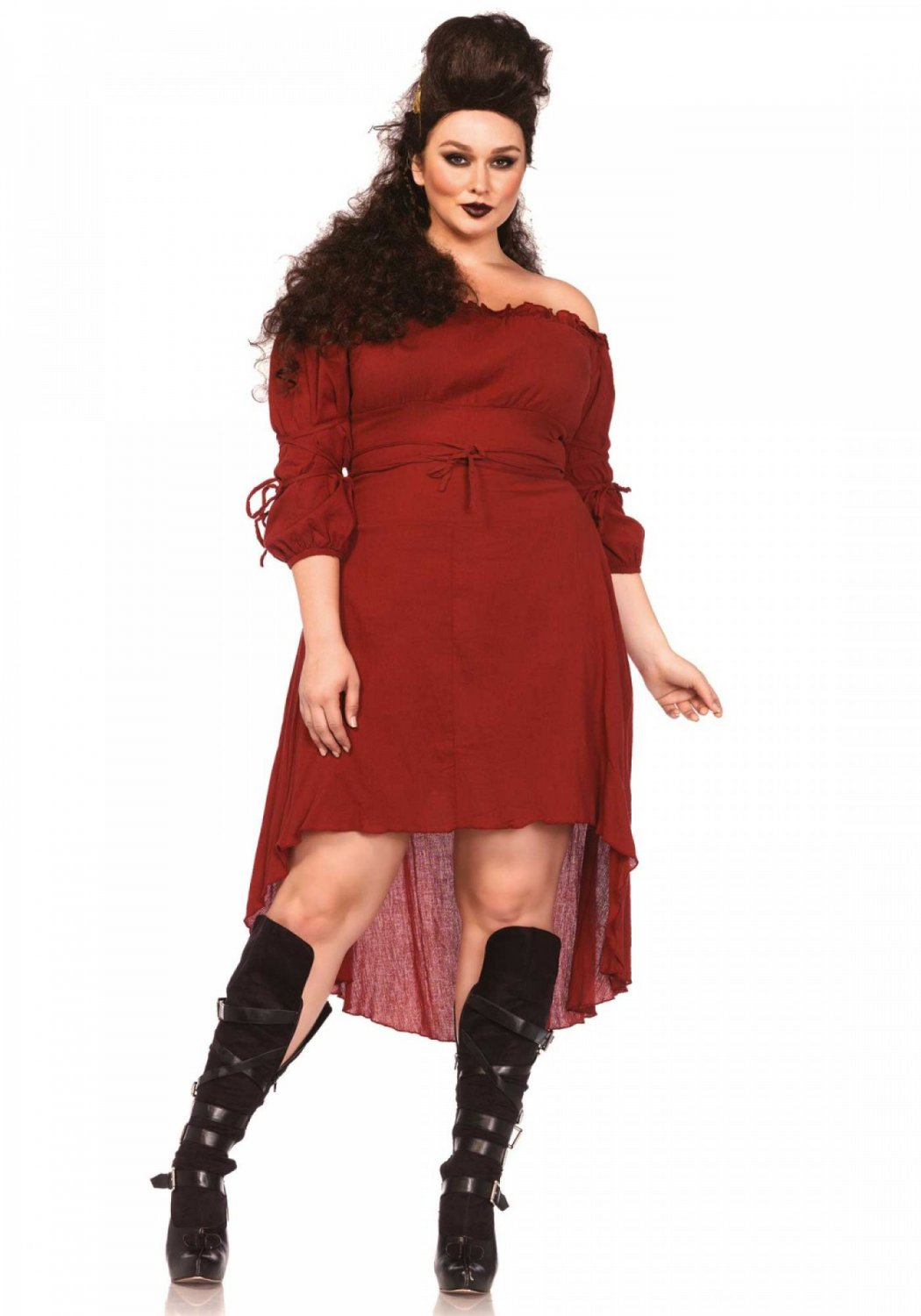 Leg Avenue Gauze High Low Peasant Dress 1X-2X