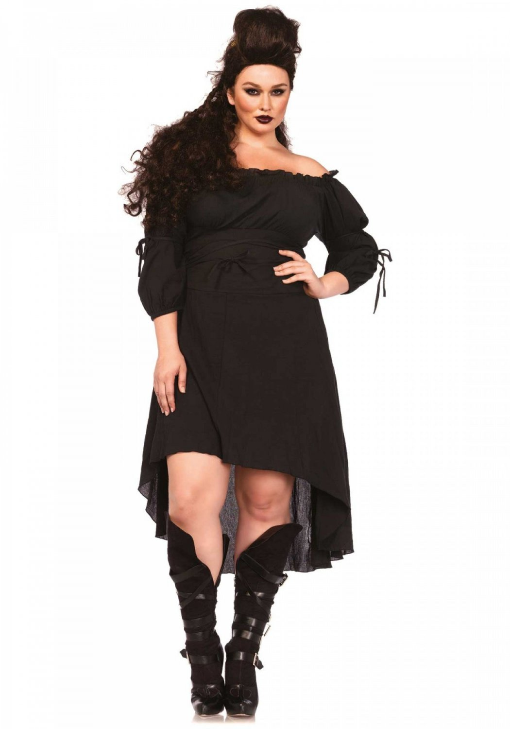 Leg Avenue Gauze High Low Peasant Dress 3X-4X