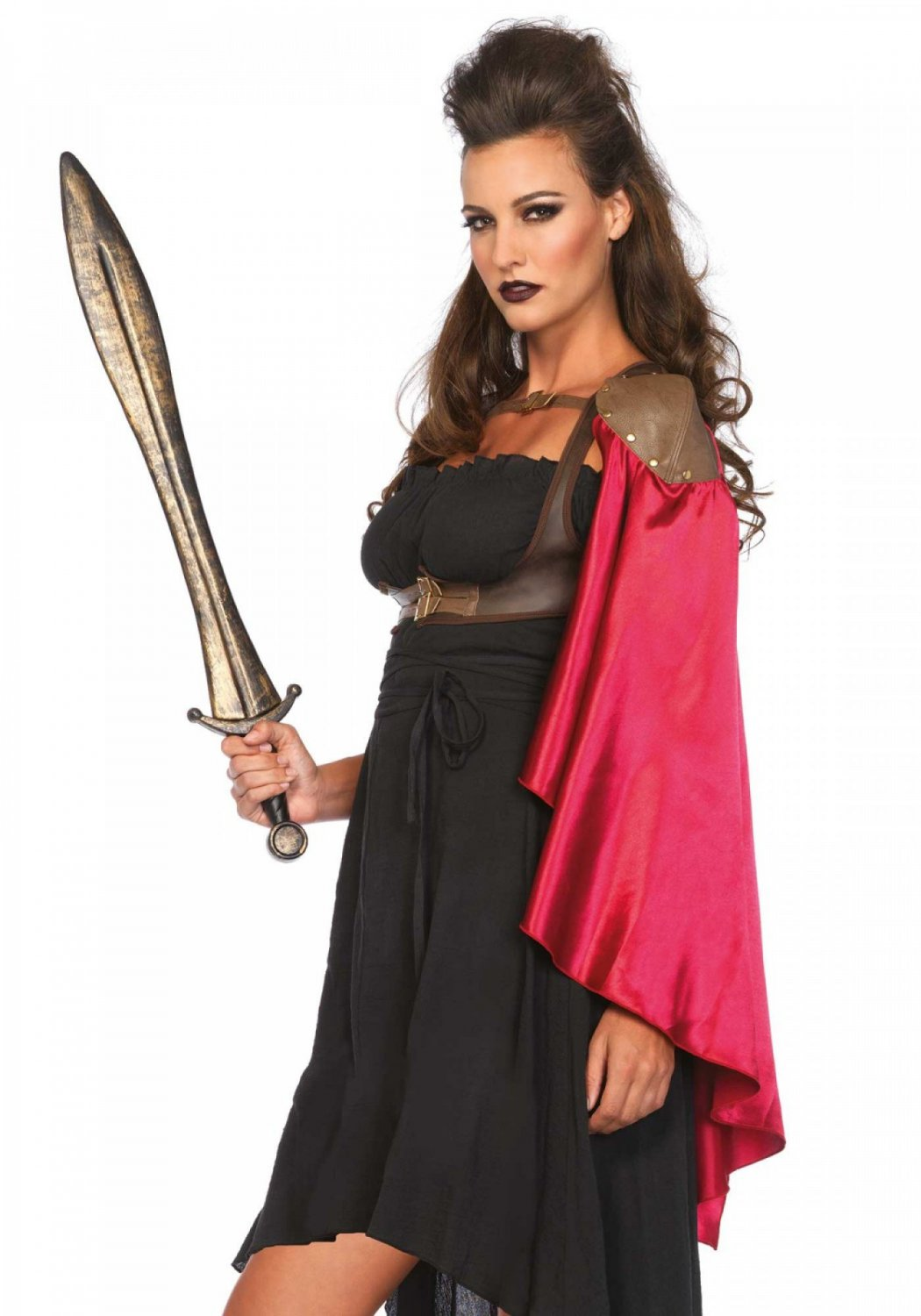 Harness vest with satin cape SM