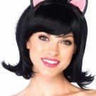 Black  Kitty Kat Bob Wig