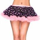 Leg Avenue Chiffon Polka Dot Mini Petticoat