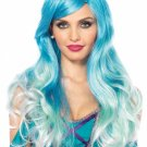 Blue  Mermaid Ombre Wig