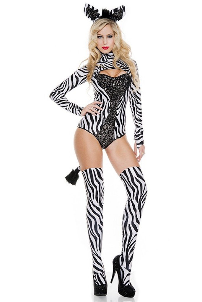Z Is For Sexy Zebra Womens Costume Size SM