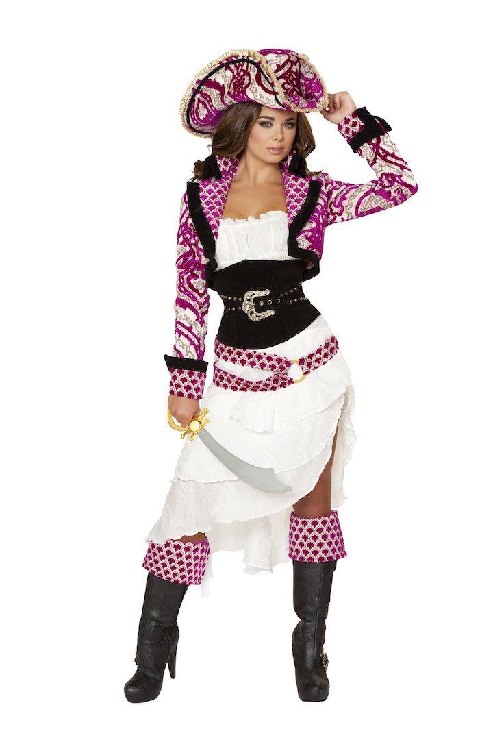 5 PC Precious Pirate Costume Size Medium