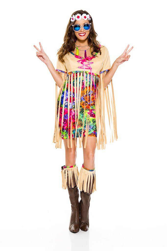 Retro Hipster Costume Size XL
