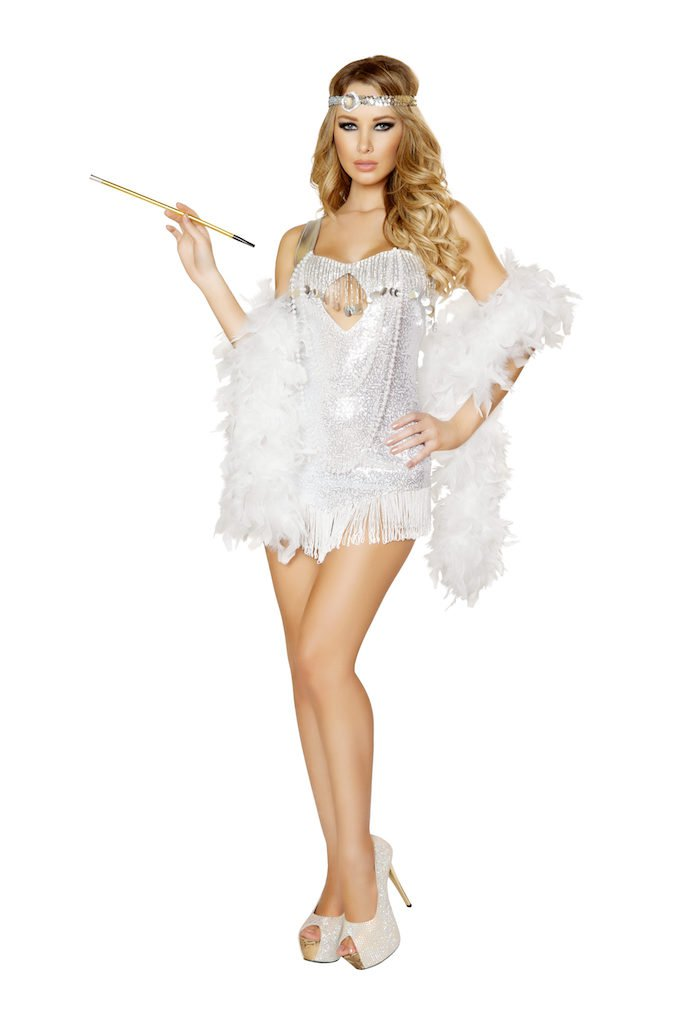2 PC Femme Fatale Flapper Costume Size Small