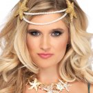 Sku A1536 Mermaid Pearl Starfish Headband