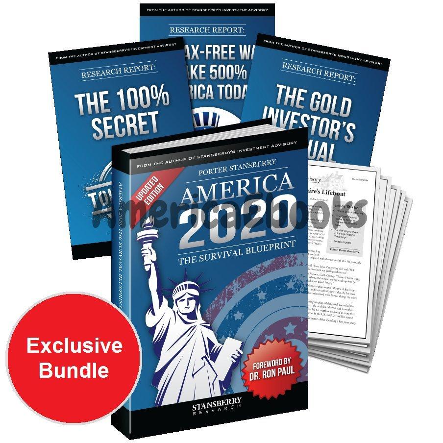 America 2020 Hardcover Hardback Kit Survival Blueprint Book Porter Stansberry Research 2016 Edition