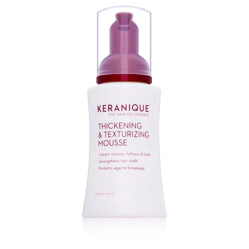 Keranique Thickening & Texturizing Mousse - 3.4 fl oz bottle Volumizing Shine Enhancing Foam