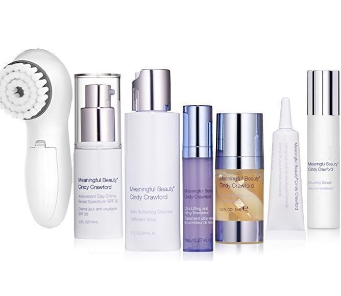 Cindy Crawford Meaningful Beauty Ultra 7 Piece Kit Anti Aging Skin Care Facial Lotion Cream System