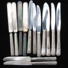 Dinner Knife Craft Lot 13 Silverplate Vintage Flatware Ornate Flower Altered Art
