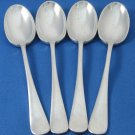 Mappin Webb Demitasse Tea Coffee Spoons 1800s Flatware Sheffield Silverplate Set 4