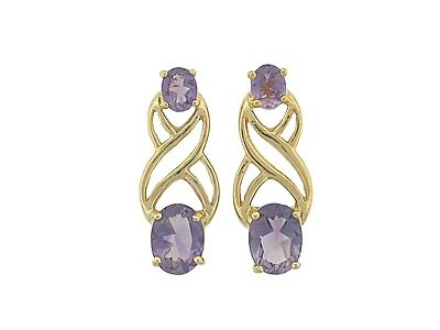 3.25 carat amethyst earrings