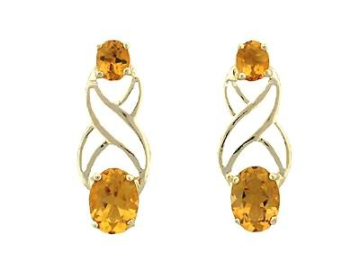 3 carat citrine earrings