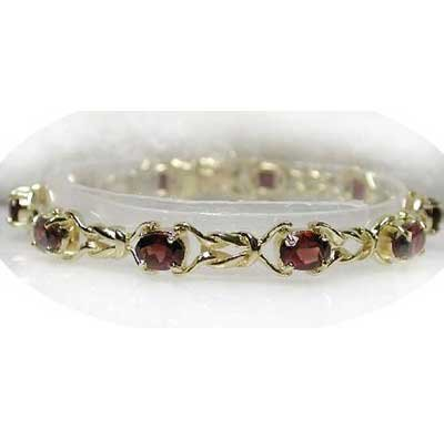 8.5 carat genuine garnet twist tennis bracelet