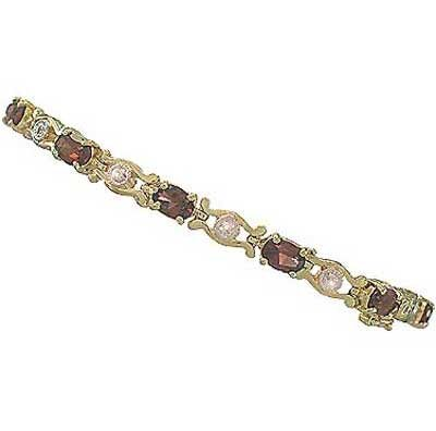 7.46 carat genuine garnet and diamond bracelet