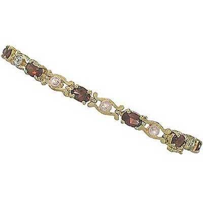 7.46 carat genuine garnet and diamond bracelet