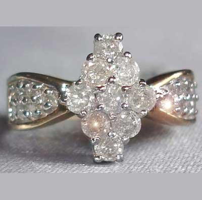 1 carat genuine diamond ring
