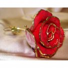 Unique Lacquered & 24K gold-plated real heart rose