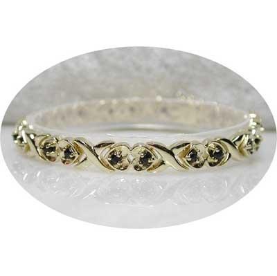 2.70 carat sapphire gold hearts bracelet
