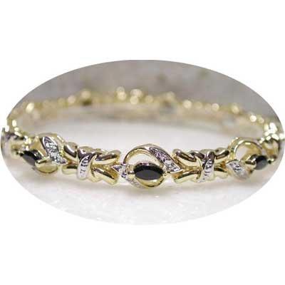 3.61 ctw genuine Sapphire & Diamond bracelet