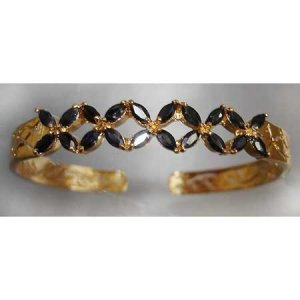 3 carat genuine SAPPHIRE gold bangle