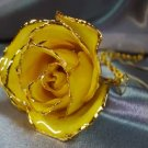 Lacquered & 24k gold-plated REAL Yellow ROSE