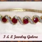 3.2ctw GENUINE RUBY gold bangle