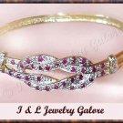 Designer Genuine RUBY & DIAMOND gold bangle