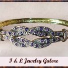 Designer Amethyst & DIAMOND gold bangle