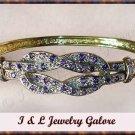 Designer Amethyst & DIAMOND gold bangle