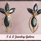 3.50ctw genuine SAPPHIRE gold earrings