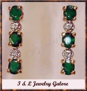 2.03 carat Agate & Diamond earrings