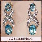 2.5 ctw Topaz & Diamond earrings