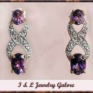 2 carat  Amethyst & Diamond earrings