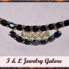 3.55 carat genuine SAPPHIRE and DIAMOND gold necklace