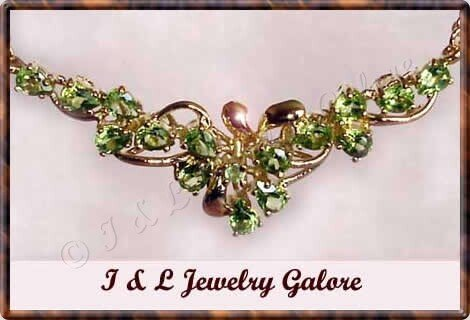 2.20 ctw genuine PERIDOT gold necklace