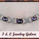 2.53 ctw genuine Amethyst & Diamond necklace