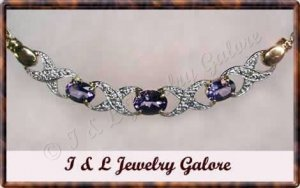 2.53 ctw genuine Amethyst & Diamond necklace