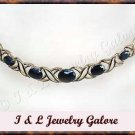 7.25 carat genuine SAPPHIRE gold necklace