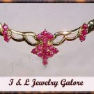 Unique genuine RUBY designer style gold necklace